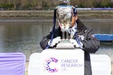 The Boat Race season 2017 -  The Cancer Research Women's Boat Race: The Boat Race trophy. River Thames between Putney Bridge and Mortlake, London SW15,  United Kingdom, on 02 April 2017 at 14:28, image #15