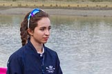 The Boat Race season 2017 -  The Cancer Research Women's Boat Race: OUWBC cox Eleanor Shearer on the way to the toss for the Women's Boat Race. River Thames between Putney Bridge and Mortlake, London SW15,  United Kingdom, on 02 April 2017 at 14:39, image #18