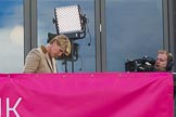 The Boat Race season 2017 -  The Cancer Research Women's Boat Race: Clare Balding preparing for the BBC live broadcast at the Media Centre. River Thames between Putney Bridge and Mortlake, London SW15,  United Kingdom, on 02 April 2017 at 15:43, image #46