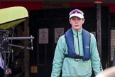 The Boat Race season 2017 -  The Cancer Research Women's Boat Race: CUWBC cox Matthew Holland leading the Cambridge crew on the way from the boat house to the river. River Thames between Putney Bridge and Mortlake, London SW15,  United Kingdom, on 02 April 2017 at 15:47, image #48