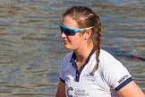 The Boat Race season 2017 -  The Cancer Research Women's Boat Race: OUWBC getting ready to set off, here 6 Harriet Austin. River Thames between Putney Bridge and Mortlake, London SW15,  United Kingdom, on 02 April 2017 at 15:52, image #89