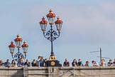 The Boat Race season 2017 -  The Cancer Research Women's Boat Race: Crowds waiting for the start of the Cancer Research Women's Boat Race on Putney Bridge. River Thames between Putney Bridge and Mortlake, London SW15,  United Kingdom, on 02 April 2017 at 16:07, image #99