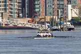 The Boat Race season 2017 -  The Cancer Research Women's Boat Race: OUWBC near Wandsworth Pier before the start of the Women's Boat Race. River Thames between Putney Bridge and Mortlake, London SW15,  United Kingdom, on 02 April 2017 at 16:23, image #102