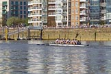 The Boat Race season 2017 -  The Cancer Research Women's Boat Race: Crowds along the Thames  as the OUWBC boat passes Fulham Reach. River Thames between Putney Bridge and Mortlake, London SW15,  United Kingdom, on 02 April 2017 at 16:40, image #148