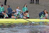 The Boat Race season 2017 -  The Cancer Research Women's Boat Race: CUWBC acelebrating after having won the Women's Boat Race. River Thames between Putney Bridge and Mortlake, London SW15,  United Kingdom, on 02 April 2017 at 16:58, image #195