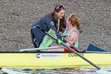 The Boat Race season 2017 -  The Cancer Research Women's Boat Race: CUWBC's boa Ashton Brown. River Thames between Putney Bridge and Mortlake, London SW15,  United Kingdom, on 02 April 2017 at 16:58, image #196