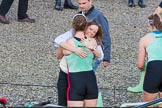 The Boat Race season 2017 -  The Cancer Research Women's Boat Race: CUWBC acelebrating after having won the Women's Boat Race. River Thames between Putney Bridge and Mortlake, London SW15,  United Kingdom, on 02 April 2017 at 16:58, image #200