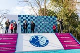 The Boat Race season 2017 -  The Cancer Research Women's Boat Race: The scene is set for the price giving at Mortlake. River Thames between Putney Bridge and Mortlake, London SW15,  United Kingdom, on 02 April 2017 at 17:08, image #213