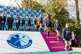 The Boat Race season 2017 -  The Cancer Research Women's Boat Race: OUWBC leaving the price giving ceremony. River Thames between Putney Bridge and Mortlake, London SW15,  United Kingdom, on 02 April 2017 at 17:10, image #221