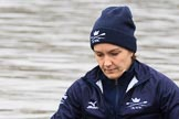 """The Boat Race season 2018 - Women's Boat Race Trial Eights (OUWBC, Oxford): Close-up of """"Coursing River"""" bow Sarah Payne-Riches. River Thames between Putney Bridge and Mortlake, London SW15,  United Kingdom, on 21 January 2018 at 13:47, image #2"""