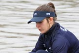 "The Boat Race season 2018 - Women's Boat Race Trial Eights (OUWBC, Oxford): Close-up of ""Coursing River"" 2 seat Rachel Anderson. River Thames between Putney Bridge and Mortlake, London SW15,  United Kingdom, on 21 January 2018 at 13:47, image #3"