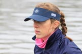 "The Boat Race season 2018 - Women's Boat Race Trial Eights (OUWBC, Oxford): Close-up of ""Coursing River"" 4 seat Anna Murgatroyd. River Thames between Putney Bridge and Mortlake, London SW15,  United Kingdom, on 21 January 2018 at 13:47, image #4"