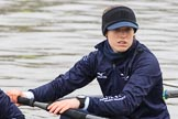 "The Boat Race season 2018 - Women's Boat Race Trial Eights (OUWBC, Oxford): Close-up of ""Coursing River"" 3 seat Stefanie Zekoll. River Thames between Putney Bridge and Mortlake, London SW15,  United Kingdom, on 21 January 2018 at 13:48, image #8"