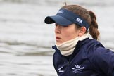 "The Boat Race season 2018 - Women's Boat Race Trial Eights (OUWBC, Oxford): Close-up of ""Great Typhoon"" 6 seat Sara Kushma. River Thames between Putney Bridge and Mortlake, London SW15,  United Kingdom, on 21 January 2018 at 13:49, image #15"
