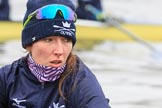 "The Boat Race season 2018 - Women's Boat Race Trial Eights (OUWBC, Oxford): Close-up of ""Great Typhoon"" 7 seat Abigail Killen. River Thames between Putney Bridge and Mortlake, London SW15,  United Kingdom, on 21 January 2018 at 13:49, image #16"