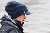 "The Boat Race season 2018 - Women's Boat Race Trial Eights (OUWBC, Oxford): Close-up of ""Great Typhoon"" cox Jessica Buck. River Thames between Putney Bridge and Mortlake, London SW15,  United Kingdom, on 21 January 2018 at 13:49, image #18"