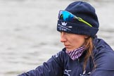 "The Boat Race season 2018 - Women's Boat Race Trial Eights (OUWBC, Oxford): Close-up of ""Great Typhoon"" 7 seat Abigail Killen. River Thames between Putney Bridge and Mortlake, London SW15,  United Kingdom, on 21 January 2018 at 13:49, image #19"