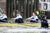 "The Boat Race season 2018 - Women's Boat Race Trial Eights (OUWBC, Oxford): ""Coursing River"" - 3 Stefanie Zekoll, 2 Rachel Anderson, bow Sarah Payne-Riches. River Thames between Putney Bridge and Mortlake, London SW15,  United Kingdom, on 21 January 2018 at 14:27, image #50"