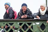 The Boat Race season 2018 - Women's Boat Race Trial Eights (OUWBC, Oxford): friends and families on Hammersmith Bridge. River Thames between Putney Bridge and Mortlake, London SW15,  United Kingdom, on 21 January 2018 at 14:35, image #99