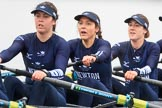 "The Boat Race season 2018 - Women's Boat Race Trial Eights (OUWBC, Oxford): ""Great Typhoon"" - 5 Olivia Pryer, 4 Linda Van Bijsterveldt, 3 Madeline Goss. River Thames between Putney Bridge and Mortlake, London SW15,  United Kingdom, on 21 January 2018 at 14:37, image #117"