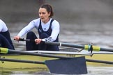 "The Boat Race season 2018 - Women's Boat Race Trial Eights (OUWBC, Oxford): ""Coursing River"" approaching Chiswick Pier -  bow Sarah Payne-Riches. River Thames between Putney Bridge and Mortlake, London SW15,  United Kingdom, on 21 January 2018 at 14:41, image #144"