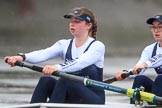 "The Boat Race season 2018 - Women's Boat Race Trial Eights (OUWBC, Oxford): ""Coursing River"" - 7 Juliette Perry, 6 Katherine Erickson. River Thames between Putney Bridge and Mortlake, London SW15,  United Kingdom, on 21 January 2018 at 14:41, image #146"