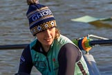 "The Women's Boat Race season 2018 - fixture CUWBC vs. ULBC: OUWBC 5 seat ""Ghost Ship"" Thea Zabell. River Thames between Putney Bridge and Mortlake, London SW15,  United Kingdom, on 17 February 2018 at 12:30, image #6"