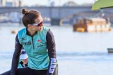 The Women's Boat Race season 2018 - fixture CUWBC vs. ULBC: CUWBC 2 seat Myriam Goudet-Boukhatm. River Thames between Putney Bridge and Mortlake, London SW15,  United Kingdom, on 17 February 2018 at 12:30, image #8