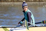 "The Women's Boat Race season 2018 - fixture CUWBC vs. ULBC: OUWBC 5 seat ""Ghost Ship"" Thea Zabell. River Thames between Putney Bridge and Mortlake, London SW15,  United Kingdom, on 17 February 2018 at 12:32, image #13"