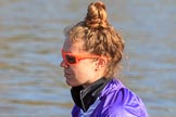 The Women's Boat Race season 2018 - fixture CUWBC vs. ULBC: ULBC 4 seat Katherine Barnhill. River Thames between Putney Bridge and Mortlake, London SW15,  United Kingdom, on 17 February 2018 at 12:33, image #19