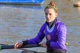 The Women's Boat Race season 2018 - fixture CUWBC vs. ULBC: ULBC 2 seat Robyn Hart-Winks. River Thames between Putney Bridge and Mortlake, London SW15,  United Kingdom, on 17 February 2018 at 12:34, image #20