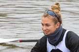 The Women's Boat Race season 2018 - fixture OUWBC vs. Molesey BC: Molesey's 6 seat Molly Harding. River Thames between Putney Bridge and Mortlake, London SW15,  United Kingdom, on 04 March 2018 at 13:09, image #19