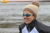 The Women's Boat Race season 2018 - fixture OUWBC vs. Molesey BC: Molesey's 5 seat Ruth Whyman. River Thames between Putney Bridge and Mortlake, London SW15,  United Kingdom, on 04 March 2018 at 13:10, image #20