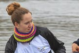 The Women's Boat Race season 2018 - fixture OUWBC vs. Molesey BC: Molesey's 4 seat Claire McKeown. River Thames between Putney Bridge and Mortlake, London SW15,  United Kingdom, on 04 March 2018 at 13:10, image #21