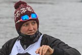 The Women's Boat Race season 2018 - fixture OUWBC vs. Molesey BC: Molesey's 2 seat 2 Lucy Primmer. River Thames between Putney Bridge and Mortlake, London SW15,  United Kingdom, on 04 March 2018 at 13:10, image #26