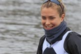 The Women's Boat Race season 2018 - fixture OUWBC vs. Molesey BC: Molesey's 6 seat Molly Harding. River Thames between Putney Bridge and Mortlake, London SW15,  United Kingdom, on 04 March 2018 at 13:10, image #27