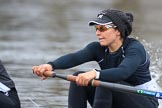 The Women's Boat Race season 2018 - fixture OUWBC vs. Molesey BC: Molesey 3 seat Gabby Rodriguez. River Thames between Putney Bridge and Mortlake, London SW15,  United Kingdom, on 04 March 2018 at 13:34, image #34