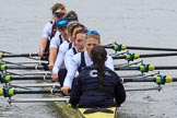 The Women's Boat Race season 2018 - fixture OUWBC vs. Molesey BC: OUWBC: Bow Renée Koolschijn, 2 Katherine Erickson, 3 Juliette Perry, 4 Alice Roberts, 5 Morgan McGovern, 6 Sara Kushma, 7 Abigail Killen, stroke Beth Bridgman, cox Jessica Buck. River Thames between Putney Bridge and Mortlake, London SW15,  United Kingdom, on 04 March 2018 at 13:48, image #68