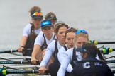 The Women's Boat Race season 2018 - fixture OUWBC vs. Molesey BC: OUWBC: Bow Renée Koolschijn, 2 Katherine Erickson, 3 Juliette Perry, 4 Alice Roberts, 5 Morgan McGovern, 6 Sara Kushma, 7 Abigail Killen, stroke Beth Bridgman, cox Jessica Buck. River Thames between Putney Bridge and Mortlake, London SW15,  United Kingdom, on 04 March 2018 at 13:48, image #70
