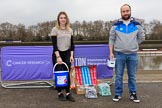The Cancer Research UK Women's Boat Race 2018: Volunteers for Cancer Research on Putney Bridge before the race. River Thames between Putney Bridge and Mortlake, London SW15,  United Kingdom, on 24 March 2018 at 13:01, image #3