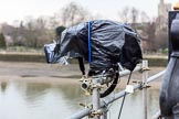 The Cancer Research UK Women's Boat Race 2018: A remote controlled BBC camera at Putney Bridge, overlooking the start area. River Thames between Putney Bridge and Mortlake, London SW15,  United Kingdom, on 24 March 2018 at 13:12, image #5