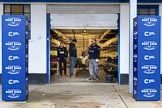 The Cancer Research UK Women's Boat Race 2018: A glimpse into the boathouse used by CUWBC.. River Thames between Putney Bridge and Mortlake, London SW15,  United Kingdom, on 24 March 2018 at 13:39, image #9