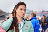 The Cancer Research UK Women's Boat Race 2018: Cambridge 4 seat Thea Zabell arriving at the boathouses before the race. River Thames between Putney Bridge and Mortlake, London SW15,  United Kingdom, on 24 March 2018 at 13:54, image #12
