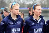 The Cancer Research UK Women's Boat Race 2018: Oxford women at the toss - stroke Beth Bridgman, and 7 seat Abigail Killen. River Thames between Putney Bridge and Mortlake, London SW15,  United Kingdom, on 24 March 2018 at 14:40, image #36
