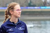 The Cancer Research UK Women's Boat Race 2018: Renée Koolschijn, at bow in the Oxford Blue Boat. River Thames between Putney Bridge and Mortlake, London SW15,  United Kingdom, on 24 March 2018 at 14:40, image #38