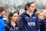 The Cancer Research UK Women's Boat Race 2018: The reserve boat toss - here, for Oxford's Osiris, cox Eleanor Shearer and 7 seat Olivia Pryer. River Thames between Putney Bridge and Mortlake, London SW15,  United Kingdom, on 24 March 2018 at 14:54, image #62