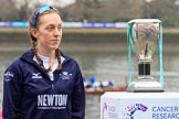 The Cancer Research UK Women's Boat Race 2018: The reserve boat toss - here, for Oxford's Osiris, stroke Anna Murgatroyd. River Thames between Putney Bridge and Mortlake, London SW15,  United Kingdom, on 24 March 2018 at 14:54, image #65