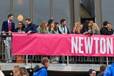 The Cancer Research UK Women's Boat Race 2018: Spectators on the balcony of the Thames RC boathouse. River Thames between Putney Bridge and Mortlake, London SW15,  United Kingdom, on 24 March 2018 at 15:13, image #74
