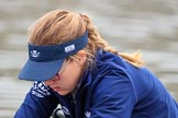 The Cancer Research UK Women's Boat Race 2018: Close-up of Renée Koolschijn, in the bow seat for Oxford. River Thames between Putney Bridge and Mortlake, London SW15,  United Kingdom, on 24 March 2018 at 15:45, image #101