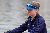The Cancer Research UK Women's Boat Race 2018: Close-up of Juliette Perry , in the 3 seat for Oxford. River Thames between Putney Bridge and Mortlake, London SW15,  United Kingdom, on 24 March 2018 at 15:45, image #102